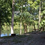 Fire Pit Lake View at Soaring Eagle Campground
