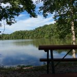 Picnic Table Lake View at Soaring Eagle Campground