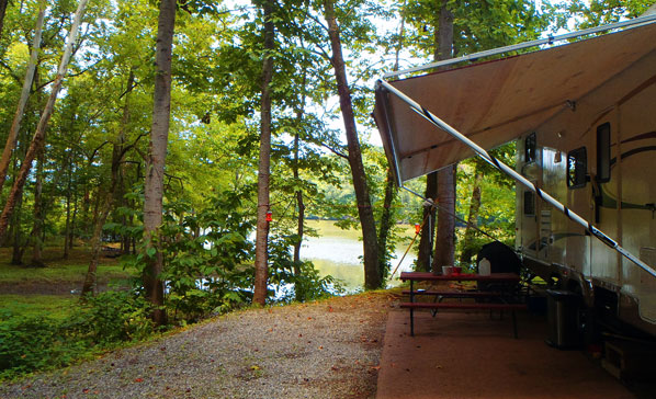 Private Lakeside Campsites at Soaring Eagle Campgrounds