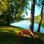 Private Picnic Areas Lakeside at Soaring Eagle Campground