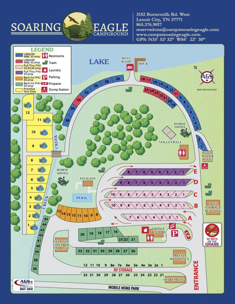 Camping In Tennessee Map.Soaring Eagle Campground Campground Map Knoxville Tn Campground